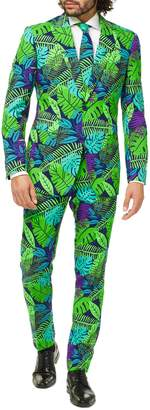 OppoSuits Juicy Jungle Trim Fit two-Piece Suit with Tie