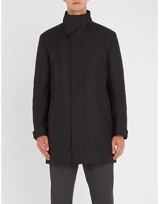 HUGO Stand collar woven coat