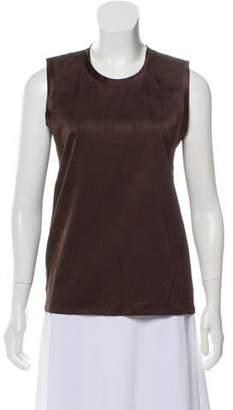 Calvin Klein Collection Sleeveless Textured Top