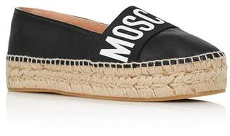 5921f361ae41 Moschino Women s Logo Leather Espadrille Flats