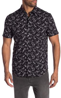 John Varvatos Floral Short Sleeve Regular Fit Shirt
