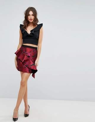 Forever New Mini Skirt in Jaquard