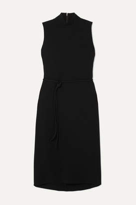 Theory Cascade Belted Cady Dress - Black
