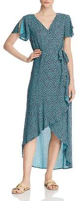 Band of Gypsies Martinique Floral Maxi Wrap Dress