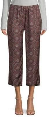 Burberry Geometric Floral Silk Pants