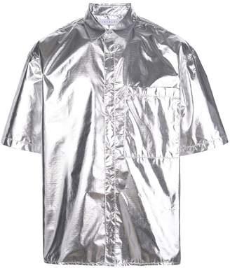 The Celect metallic short-sleeved shirt