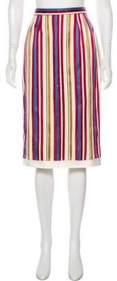 Christian Dior Silk Blend Knee-Length Skirt
