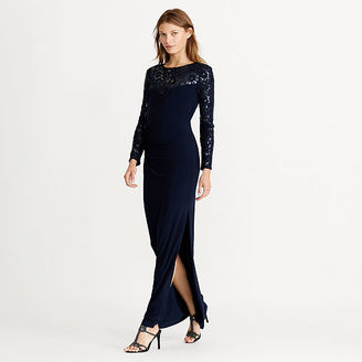 Ralph Lauren Sequined-Yoke Jersey Gown $210 thestylecure.com