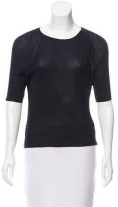 Jean Pierre Azede Jean-Pierre Rib Knit Short Sleeve Top