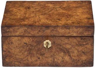 "Ash 7"" Burl Wood Decorative Box - White Mark D. Sikes"