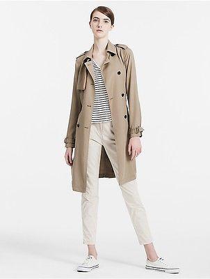 Calvin KleinCalvin Klein Womens Trench Twill Coat Jacket