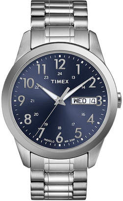 Timex Elevated Classic Mens Stainless Steel Expansion Strap Watch T2M9339J