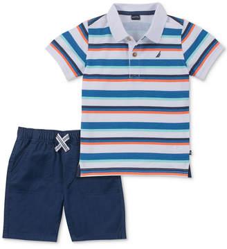 Nautica (ノーティカ) - Nautica Baby Boys 2-Pc. Striped Polo Shirt & Shorts Set
