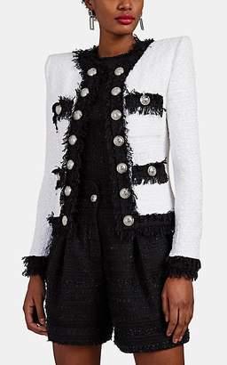 Balmain Women's Cotton-Blend Tweed Jacket - White