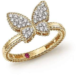 Roberto Coin 18K Yellow Gold Tiny Treasures Diamond Butterfly Ring