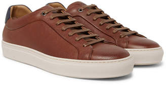 HUGO BOSS Mirage Full-grain Leather Sneakers - Brown