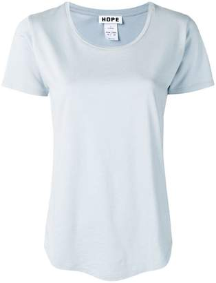 Hope casual curved hem T-shirt