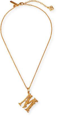 Oscar de la Renta Letter Pendant Necklace
