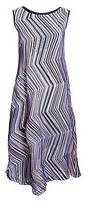 Issey Miyake Women's Dotted Line Sleeveless Shift Dress