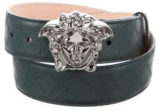 Versace Medusa Leather Belt w/ Tags