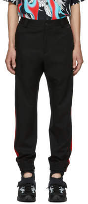 Versace Black Red Stripe Trousers