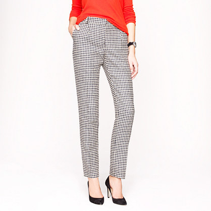 J.Crew Collection wool houndstooth pant