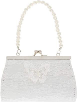 Monsoon Lace Pearl Butterfly Mini Bag