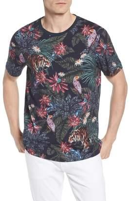 Ted Baker Slim Fit Allover Tiger Print T-Shirt