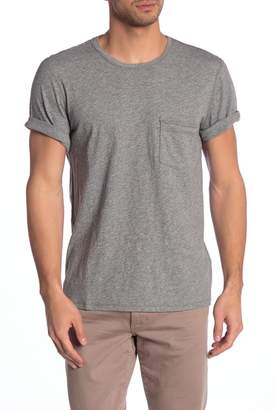 7 For All Mankind Heathered Crew Neck Raw Edge Tee