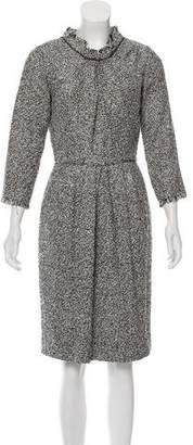 Oscar de la Renta Silk-Blend Tweed Dress