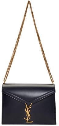 Saint Laurent Navy Cassandra Envelope Bag