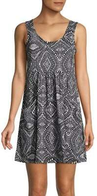 J Valdi Printed Fit-and-Flare Coverup
