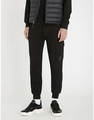 C.P. Company Lens-motif tapered cotton-jersey jogging bottoms