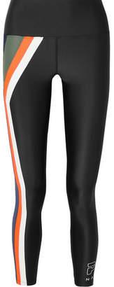 P.E Nation Flight Series Striped Stretch Leggings - Black