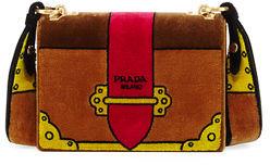 Prada Trompe L'oeil Velvet Cahier Bag $2,680 thestylecure.com