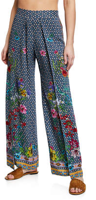 Johnny Was Dolce Dream Printed Split-Leg Coverup Pants