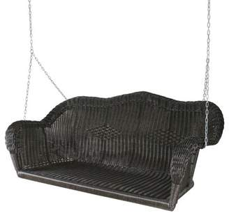 """Northlight 28"""" x 50"""" Hand Woven Wicker Outdoor Porch Swing - Brown"""