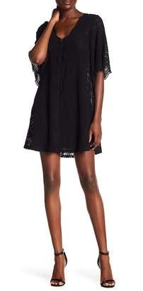 BCBGMAXAZRIA Front Tie Stretch Lace Dress