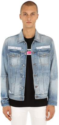 Diesel Bandana Destroyed Cotton Denim Jacket
