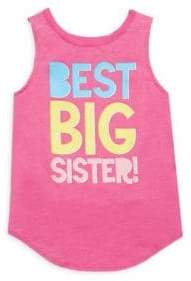 Chaser Toddler's, Little Girl's& Girl's Best Big Sister Tank Top