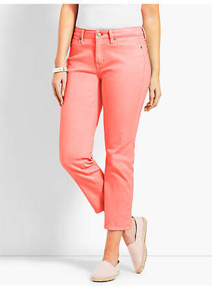 Talbots Garment Dyed Denim Straight Crop- Curvy Fit