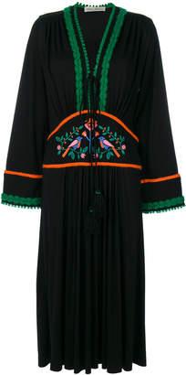 Veronique Branquinho embroidered long sleeve dress