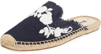 Soludos Frayed Floral Espadrille Mules