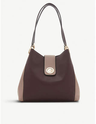 Dune Berry Red Deannee Faux Leather Hobo Bag
