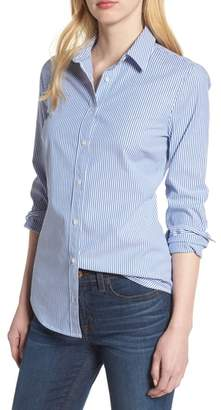 J.Crew J. CREW Perfect Classic Stripe Stretch Cotton Shirt