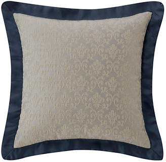 "Waterford Everett Teal 16"" X 16"" Square Collection Decorative Pillow Bedding"