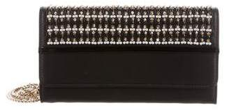Lanvin Embroidered Wallet on Chain
