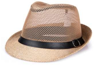 b204532c964 Raylans Mens Womens Summer Cool Mesh Fedora Hat Short Brim Sun Cap for Men