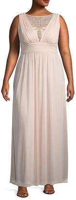 Melrose Sleeveless Embellished Evening Gown - Plus