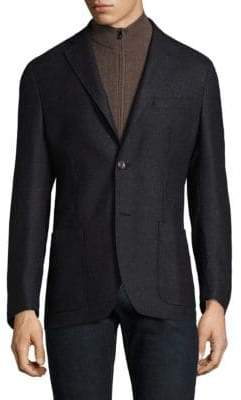 Corneliani Slim Fit Solid Wool Sportcoat